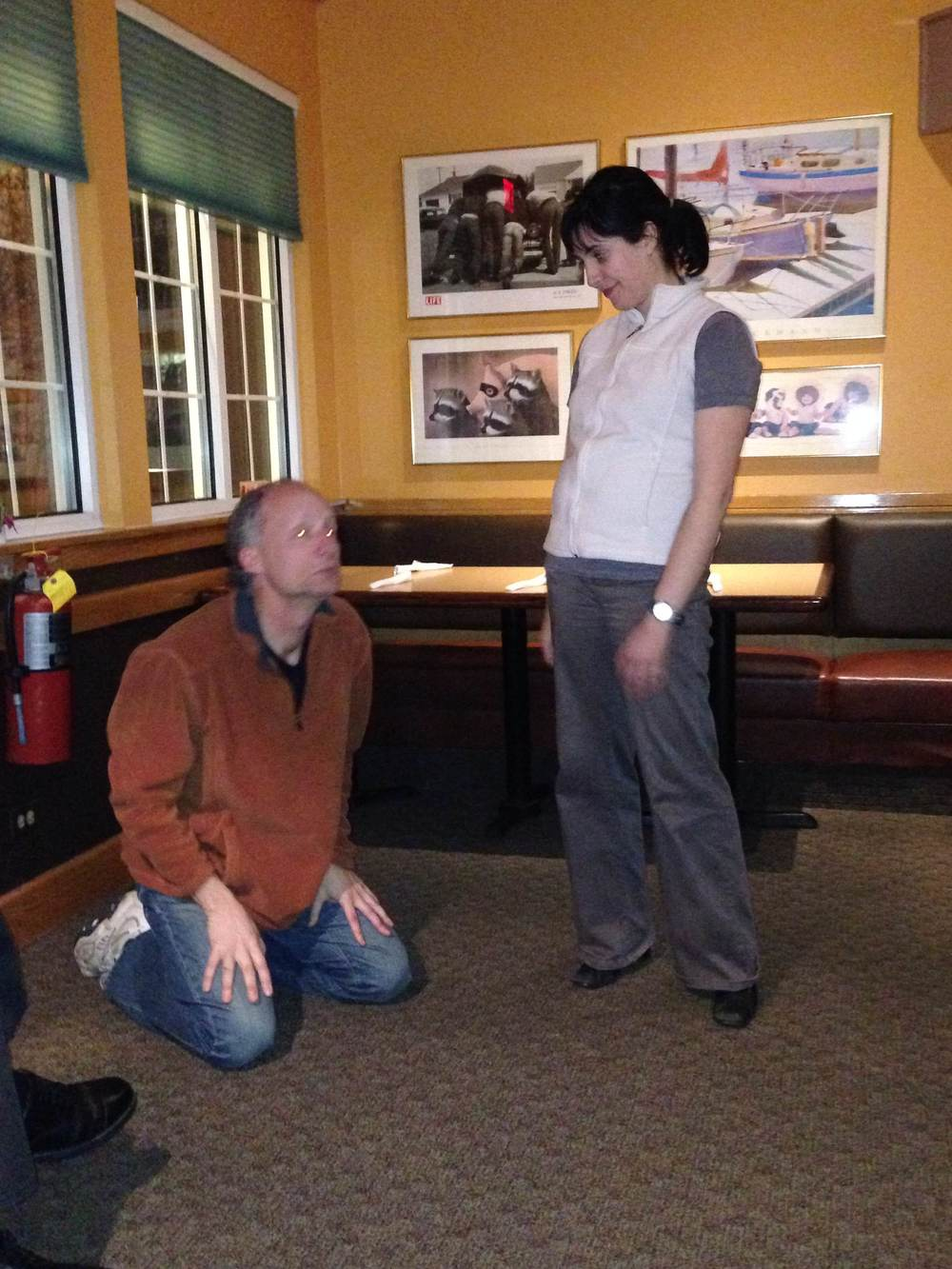 Richard O., and Kimberly G. acting out an IMPROV scene