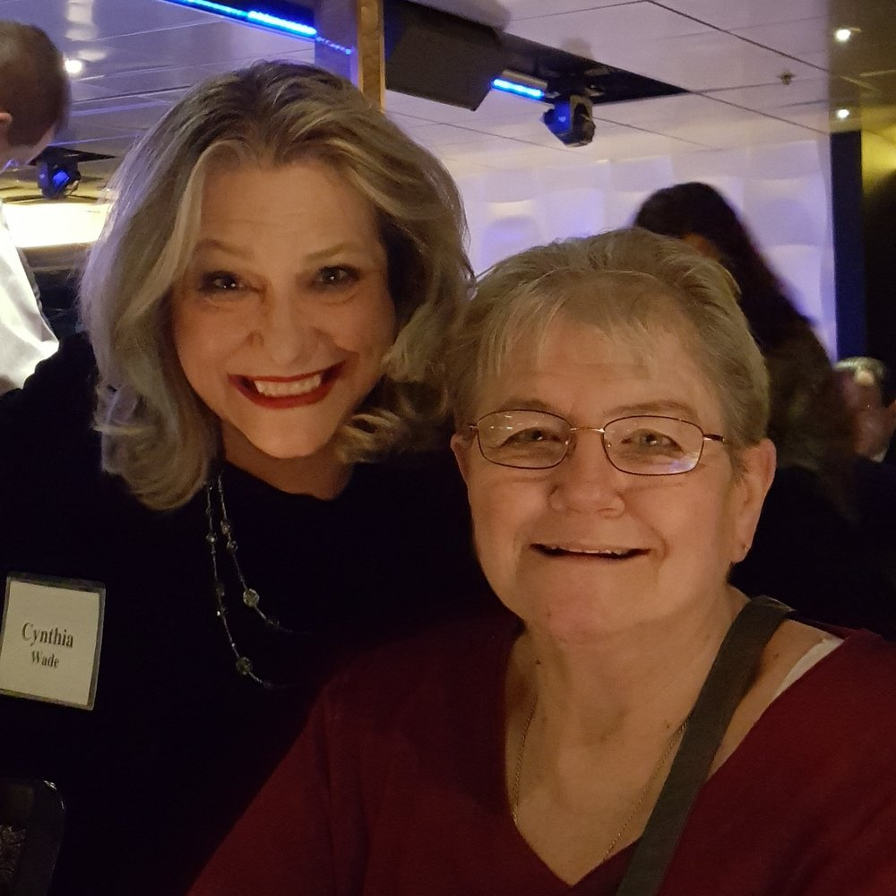 Founder, Cynthia K Wade and Office Manager, Mary Lee Johanson enjoying the festivities aboard the Odyssey on Tuesday, November 7.