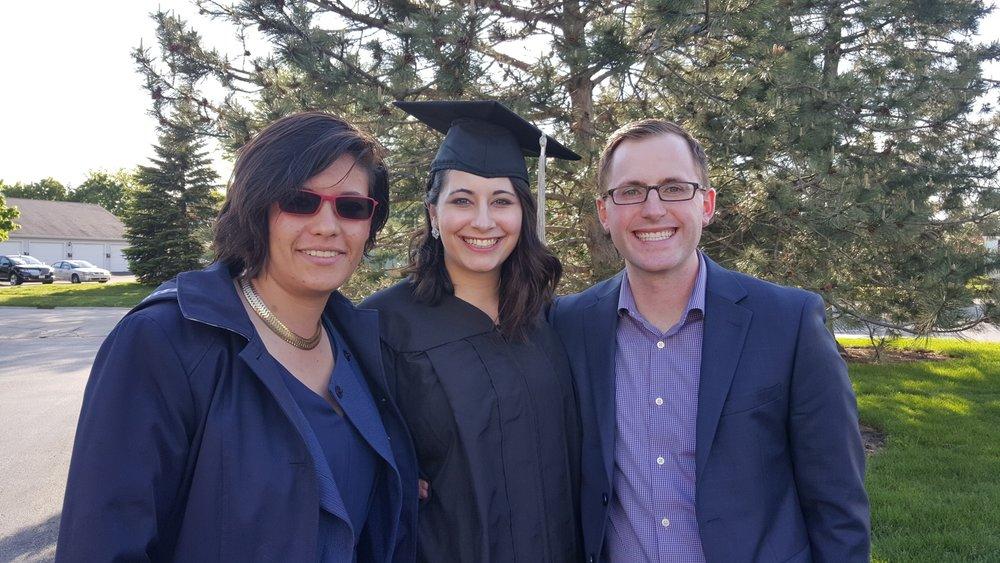 Vero Castro Lopez, Katie Scarlett Kaplan and Trevor Fortin. May 2016.