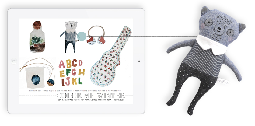 Indigo Bear Softie | featured in Stylo Magazine - Issue 3 (page 40) SEE THE FEATURE | SHOP SOFT TOYS