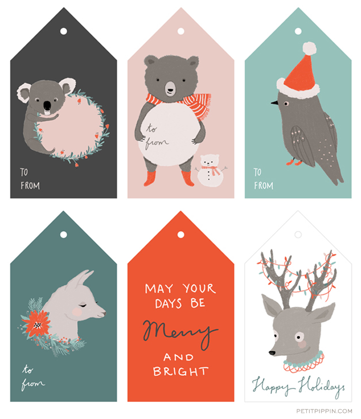 free printable holiday tags petit pippin