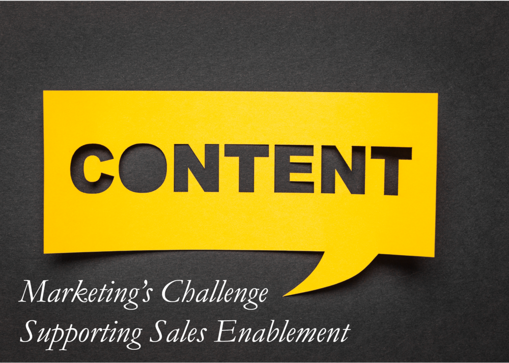 Marketing's challenge supporting sales enablement