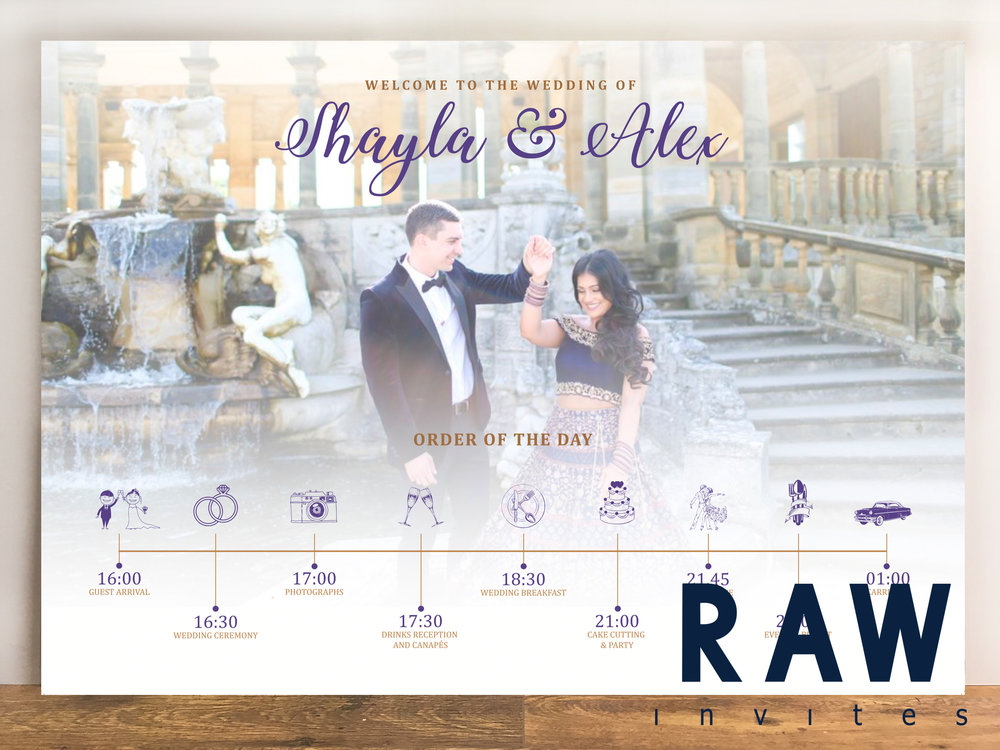 Shayla & Alex (Order of service - Pre-Wedding shoot)