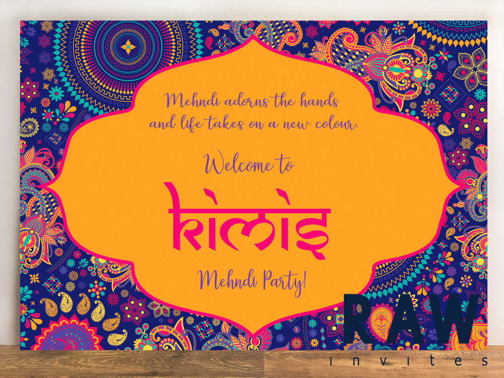 Kimi & Ronak (Bright and Bold Mehndi Board)