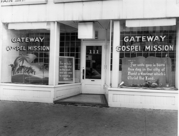 Gateway Gospel Mission's entrance