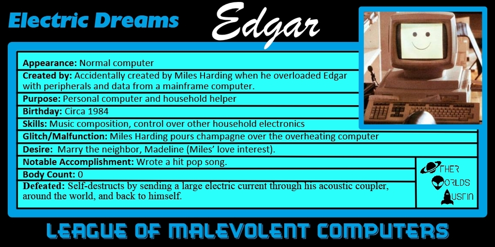 Number 9: Edgar from ELECTRIC DREAMS (1984)