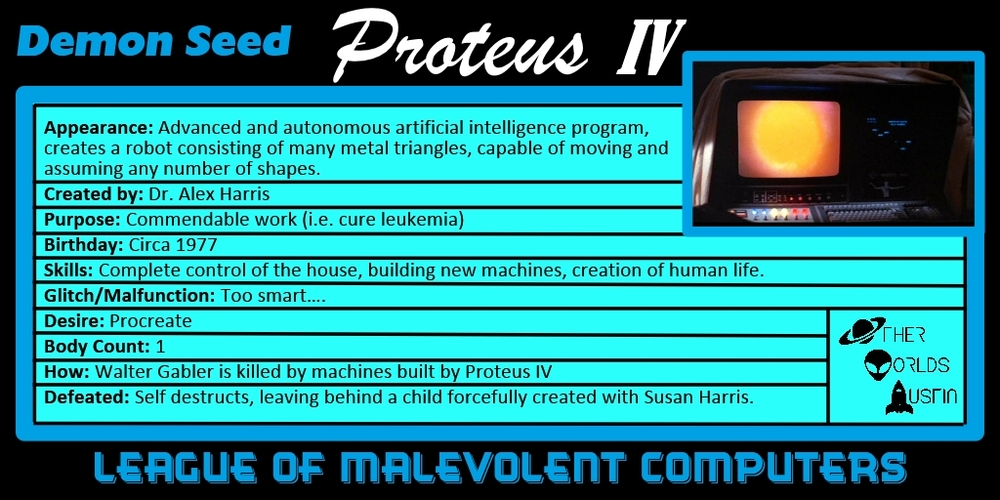 Number 8: Proteus IV from DEMON SEED (1977)