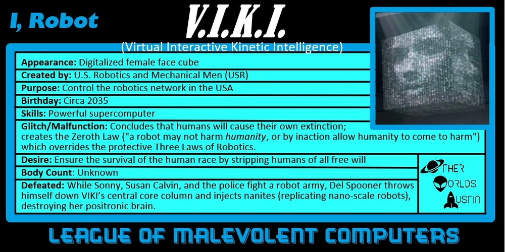 Number 5: V.I.K.I. from I, ROBOT (2004)