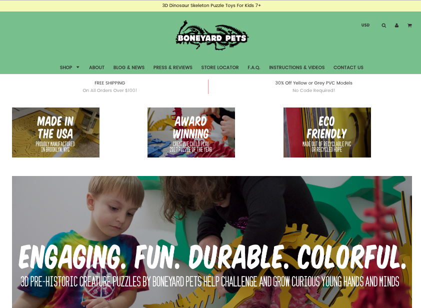 boneyard pets website design by jinnifer douglass nyc