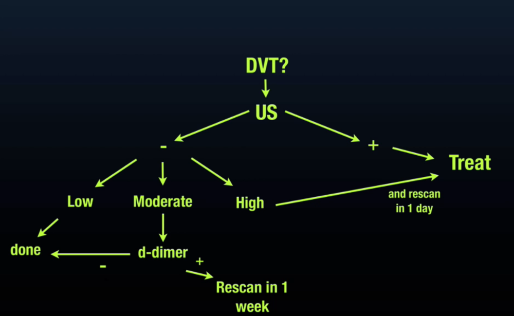 From ULA Course DVT Modified Clinical Algorithm