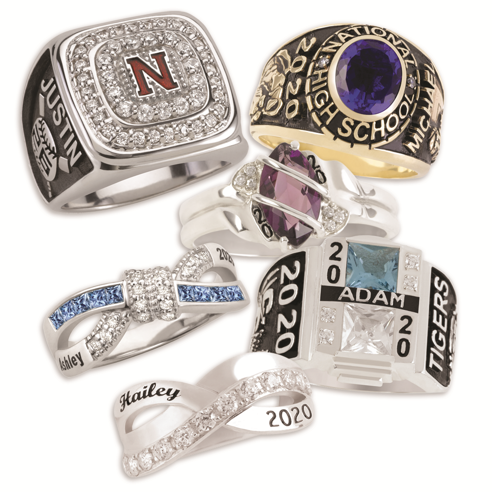 high select minuet zales artcarved v ladies designer class ring silver rings school c by