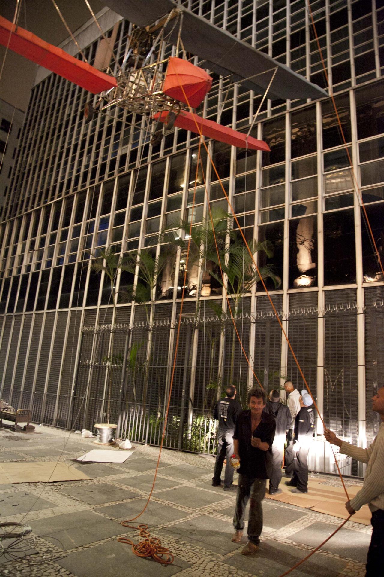 São PauloPeasant pays a visit during the midnight installation of Da Vincis do Povo