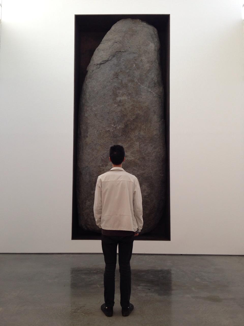 In the presence of Michael Heizer, after Caspar David Friedrich