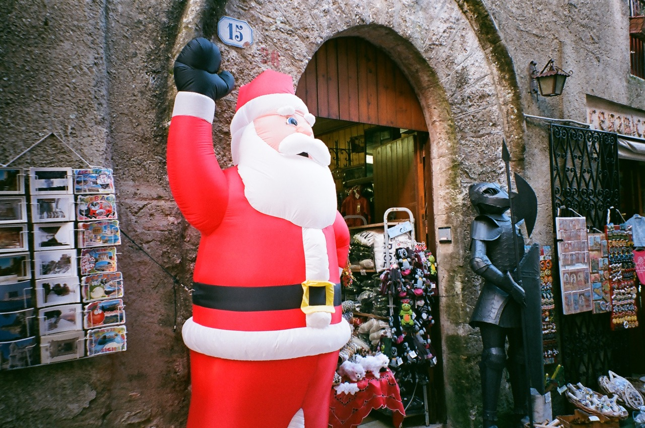 Santa and armor