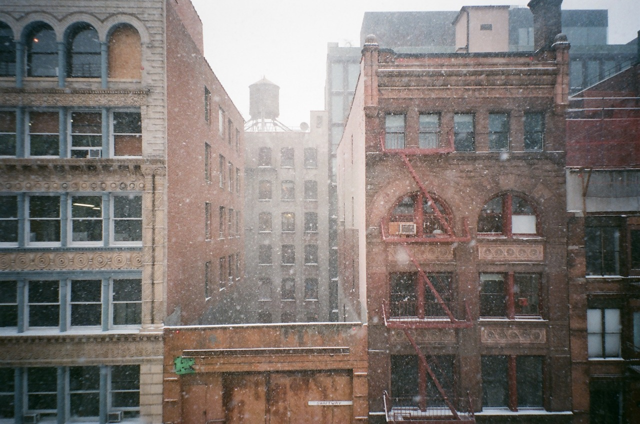 Snowing into hallowed building