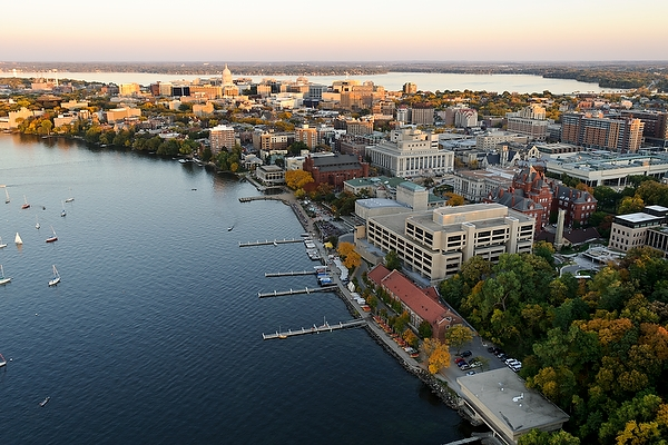 UW-Madison campus on Lake Mendota