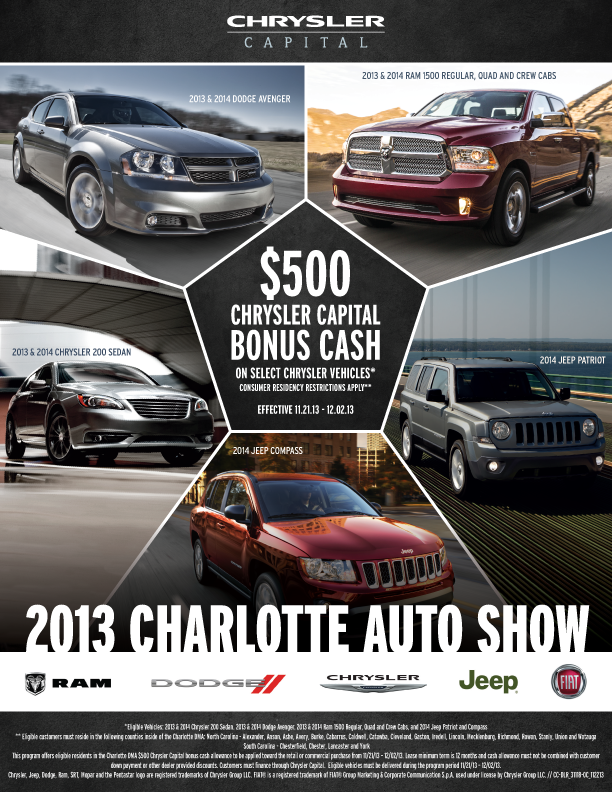 Chrysler Capital Auto Shows Bearded Creative - Chrysler capital bonus cash