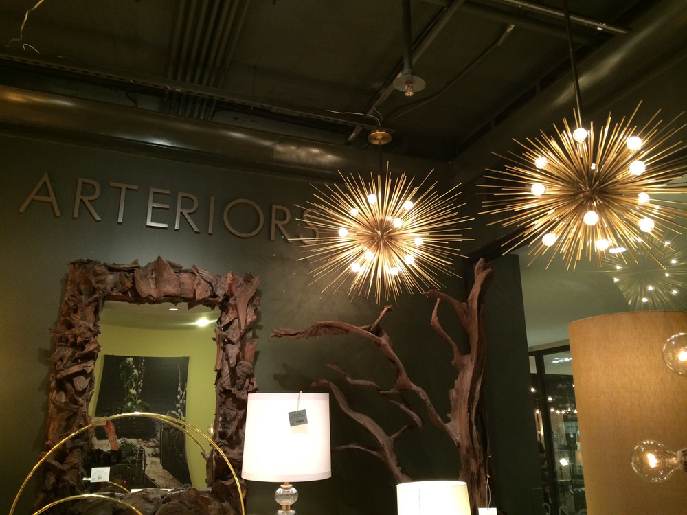 Urchin lights at  Arteriors !