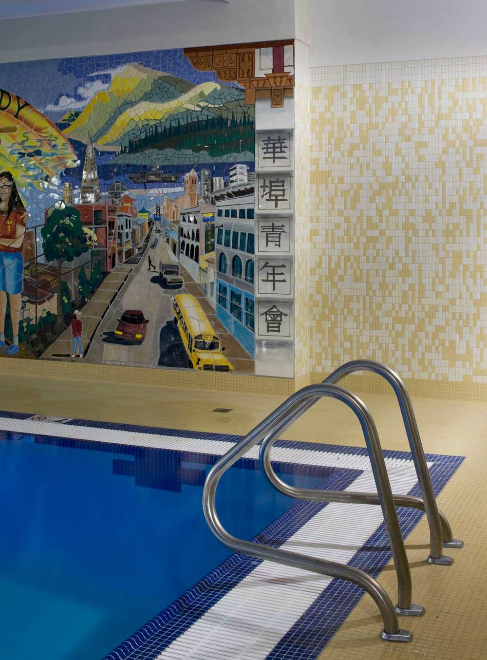 Community Mural and Pool