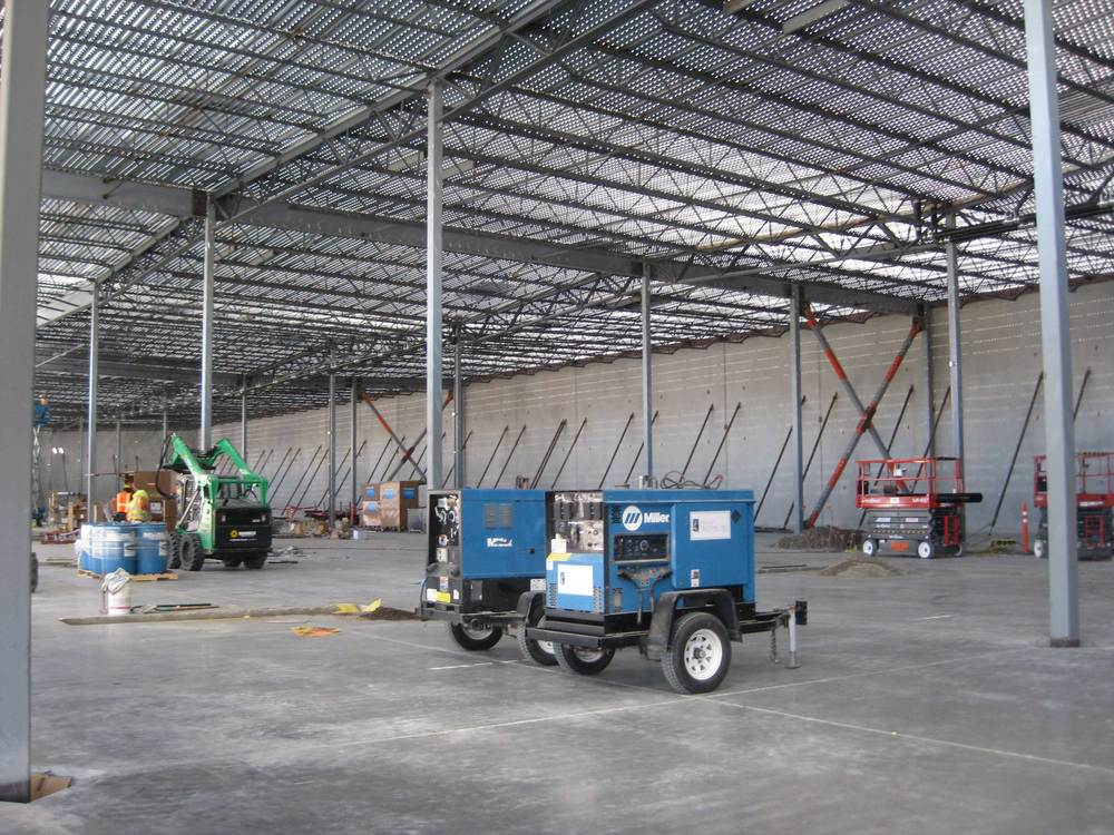 Warehouse structural framing