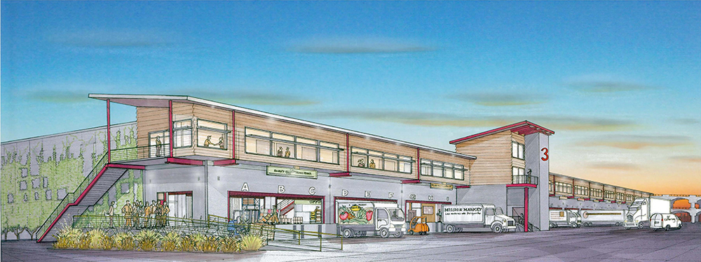 Prototype Warehouse Exterior Rendering