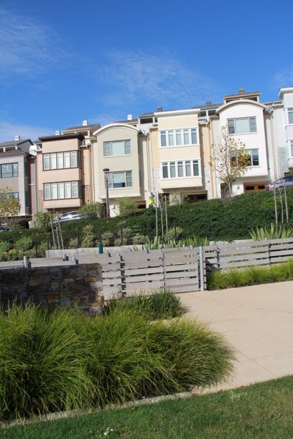 Homes overlooking Summit 800 Park