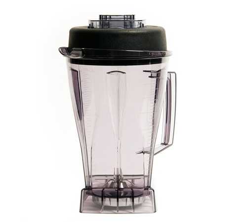 64oz BPA free container. Easy to clean and durable.