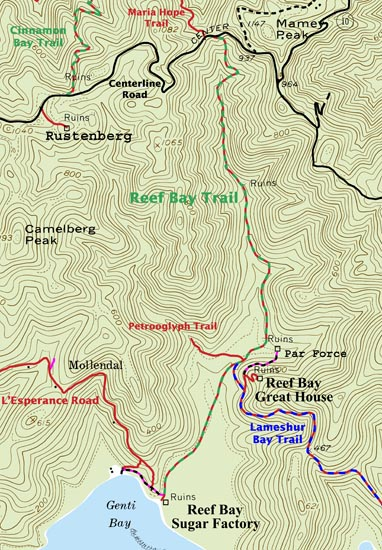 Reef Bay Trail a Great Hike see the