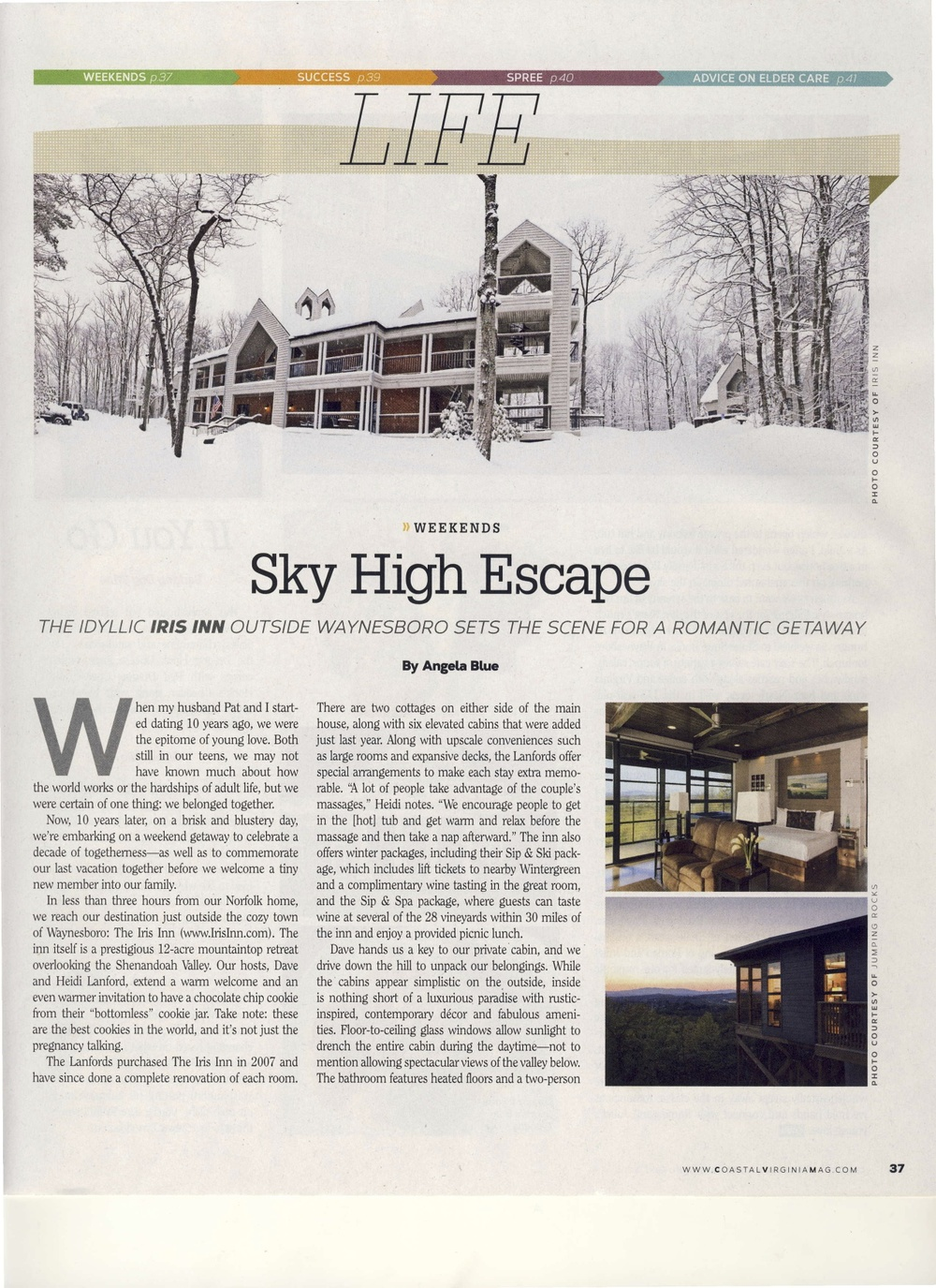 The Iris Inn was featured in Coastal Virginia Magazine