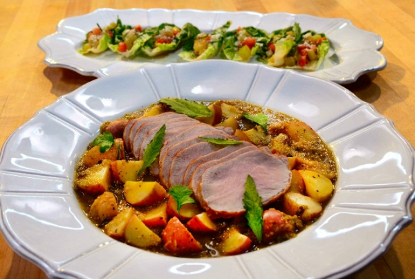 Rick Bayless' Roasted Pork with Tomatillos and Potatoes