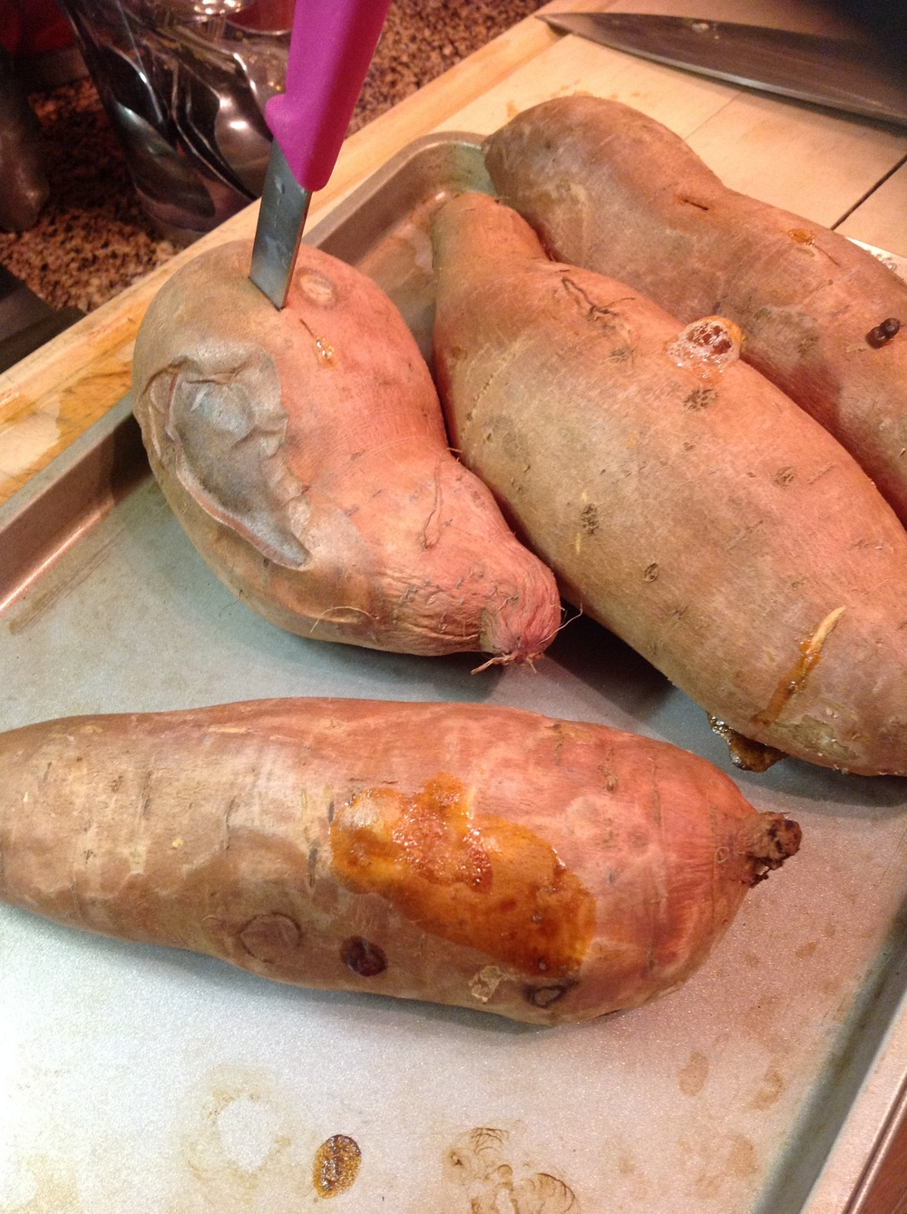 Roast Sweet Potatoes until Soft