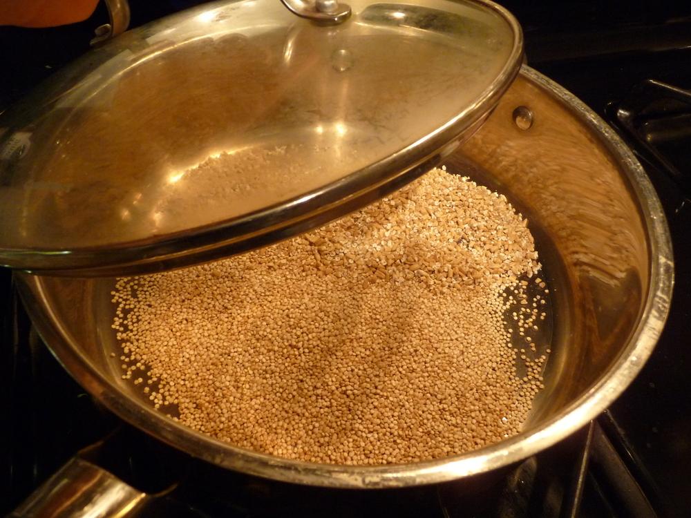 Quinoa Toasting