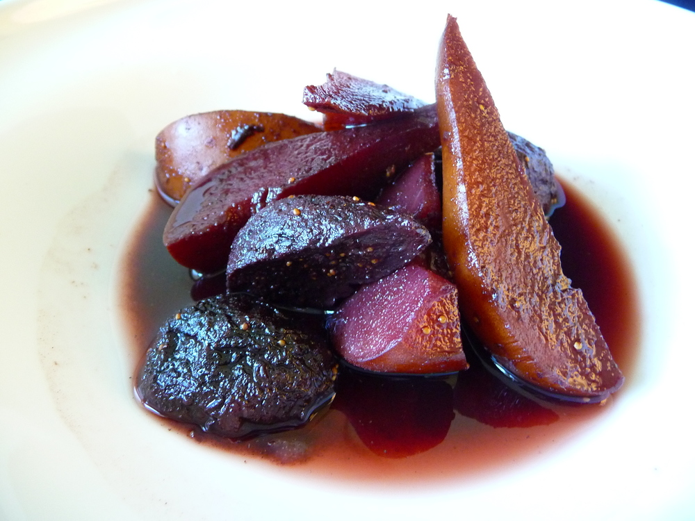 Five Spice Poached Pears and Figs