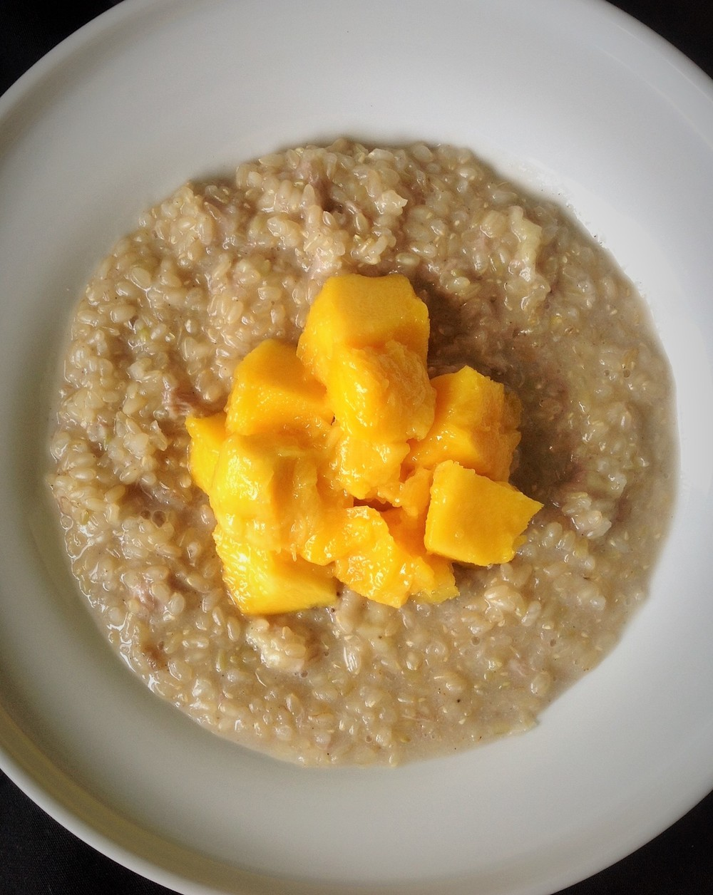Cardamom Sweet Rice Mango Bowl