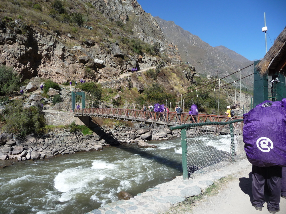 Day One of the Incan Trail, Crossing Urubamba River