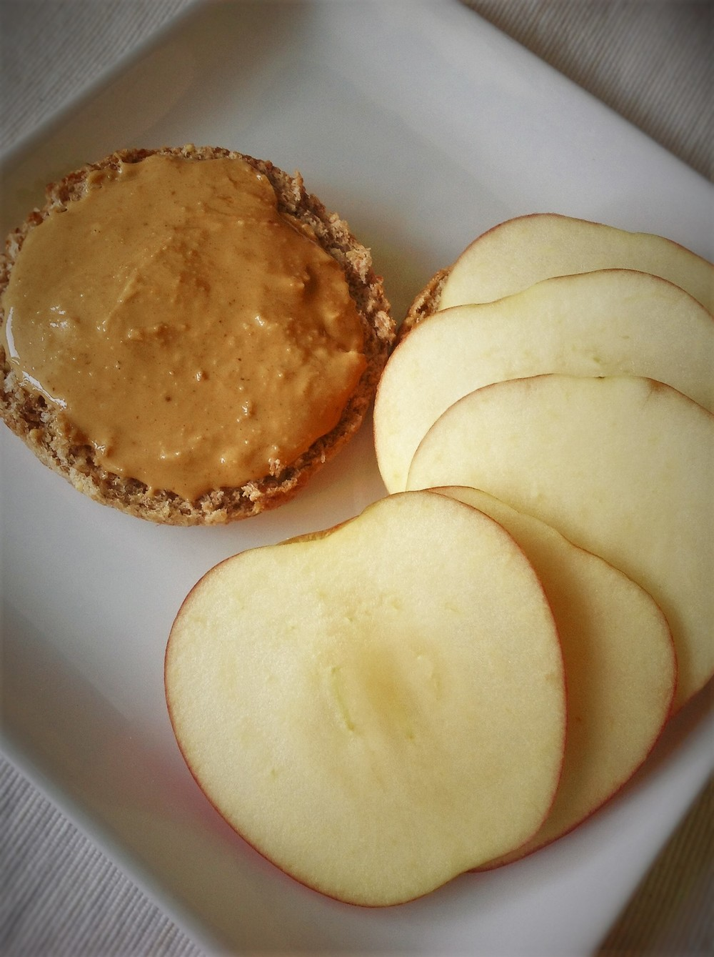 Peanut Butter Apple English Muffin
