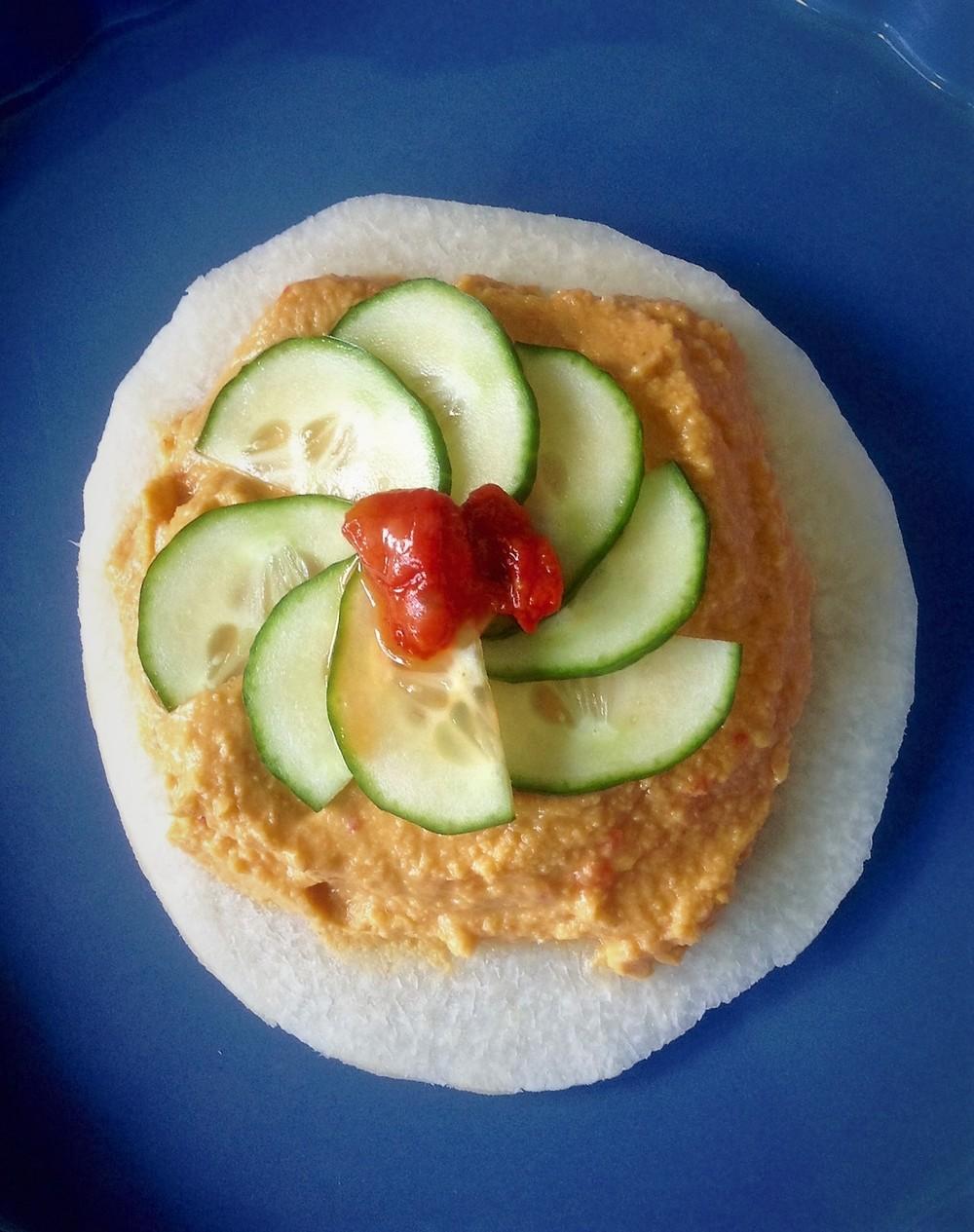 Jicama Hummus Chips