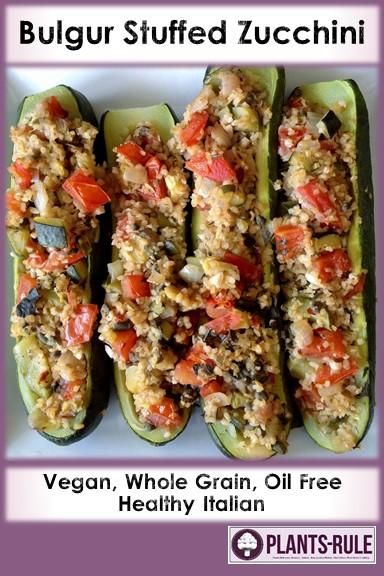 Bulgur Stuffed Zucchini