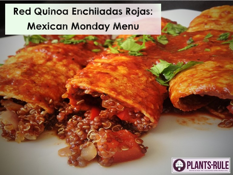 Red Quinoa Enchiladas