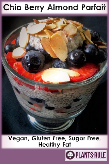 Chia Berry Almond Parfait - Healthy, Plant-Based, Dairy-Free, Oil-Free, Gluten-Free, Easy, Vegan Breakfast Recipe Pin