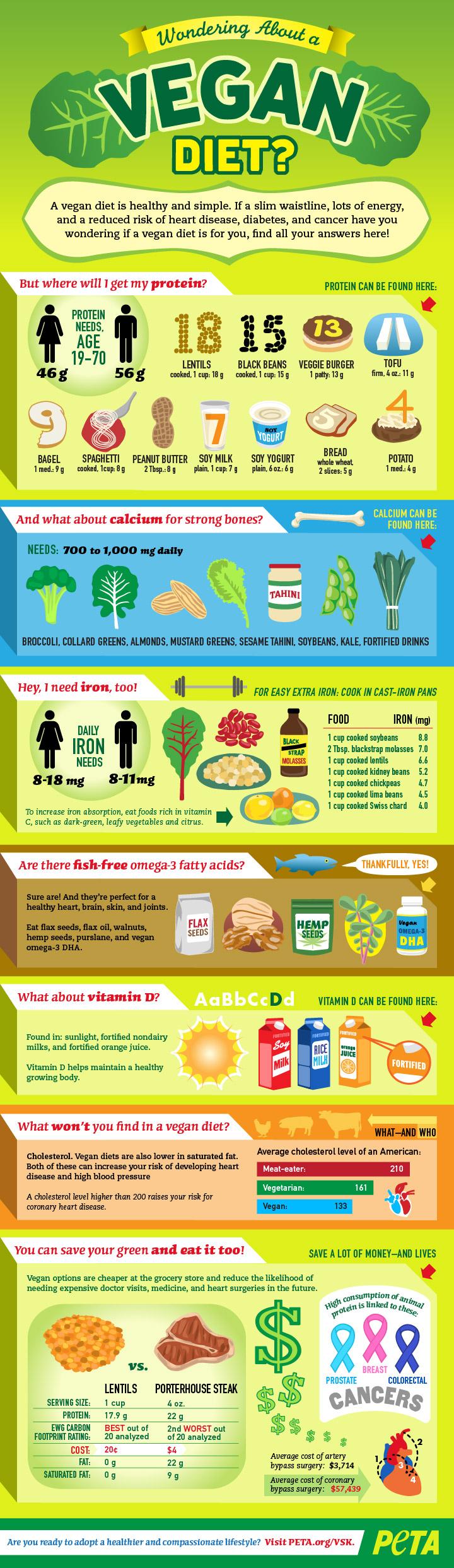 Vegan Diet Peta Infographic