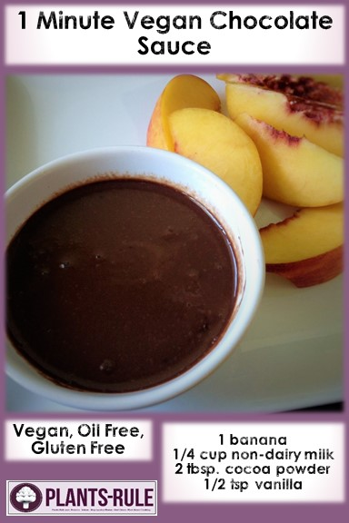 1-Minute Vegan Chocolate Sauce