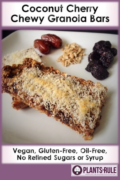 Coconut Cherry Chewy Granola Bars