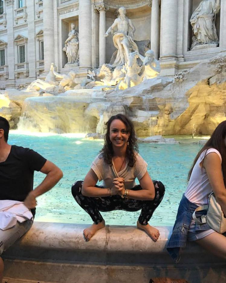 Sarah Carusona: You can Squat Anywhere, even at the Trevi Fountain in Rome