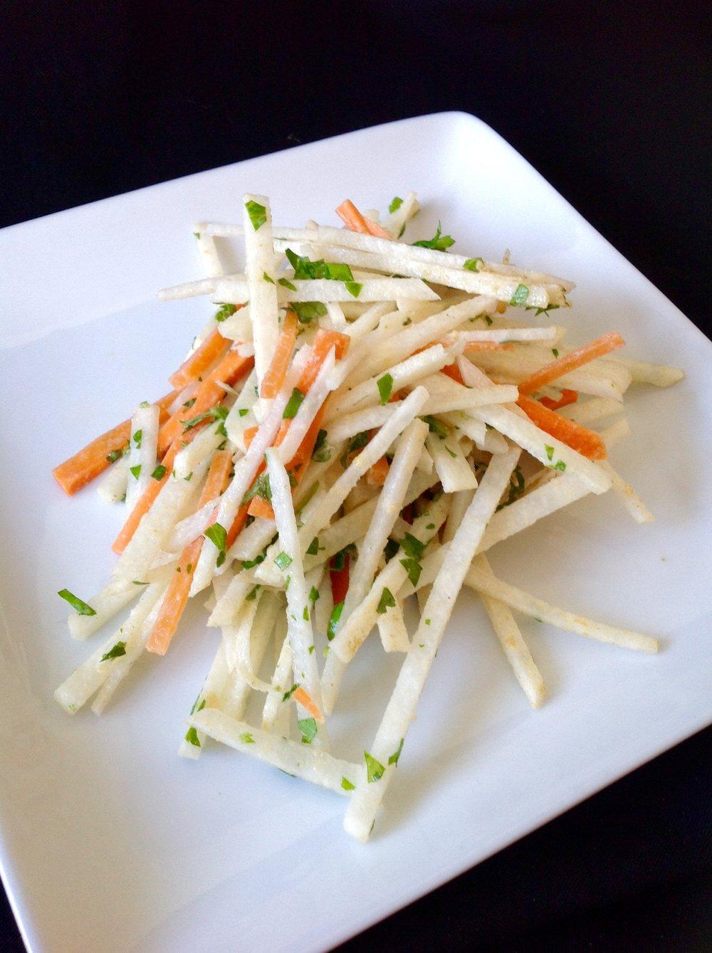 Jicama Cilantro Slaw - Healthy, Plant-Based, Oil-Free, Vegan, Gluten-Free, Fat-Free, Paleo