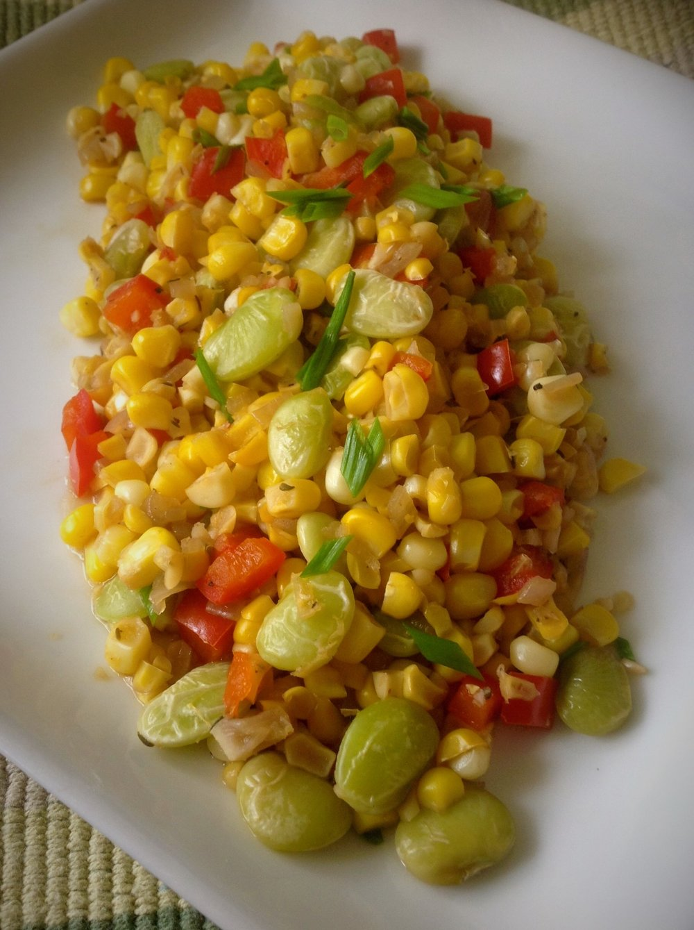 Sweet Summer Corn Succotash - Healthy, Gluten-Free, Oil-Free, Plant-Based, Vegan