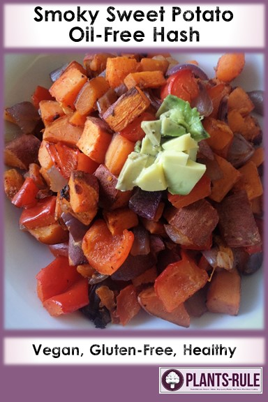 Smoky Sweet Potato Oil-Free Hash