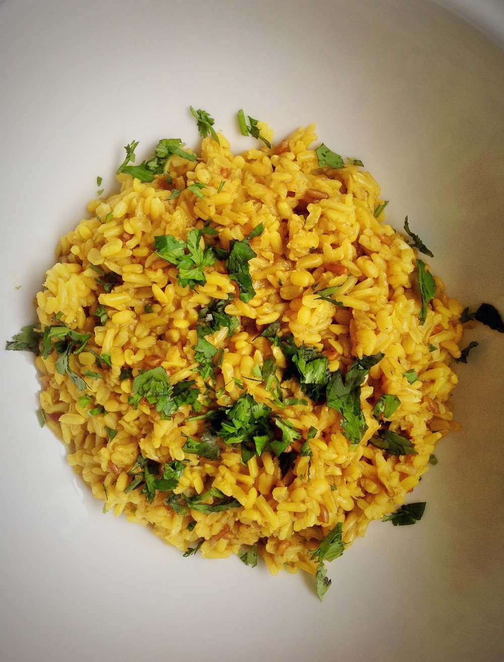 Khichda - Indian Curried Mung Beans and Rice - Healthy, Plant-Based, Oil-Free, Gluten-Free, Vegan Protein