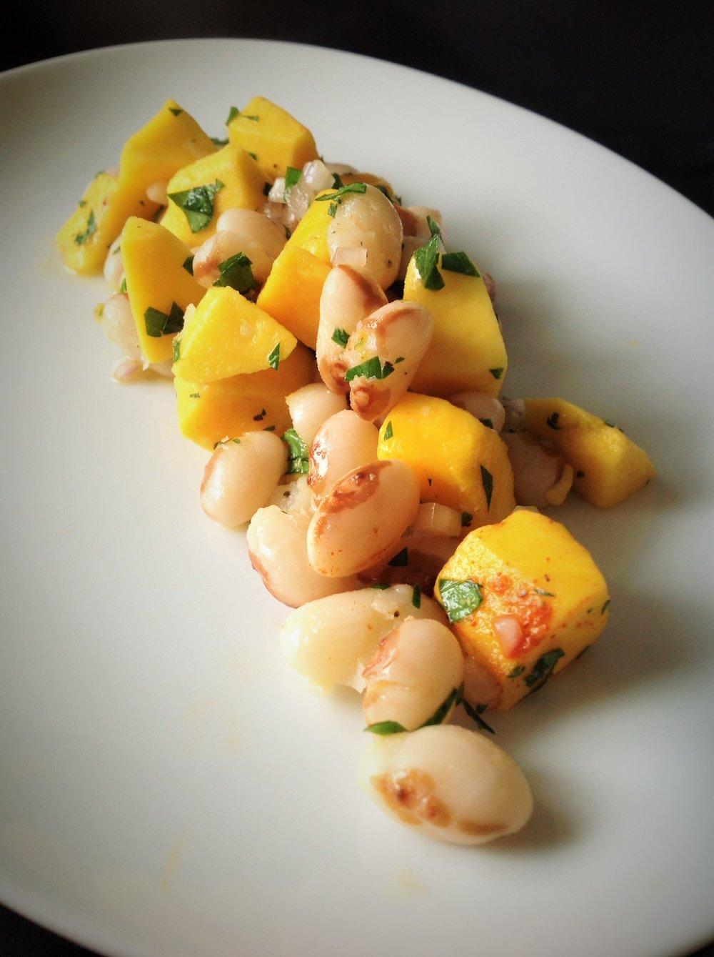 Yellow Eye Steuben Bean Mango Salad - Healthy, Oil-Free, Gluten-Free, Plant-Based, Vegan