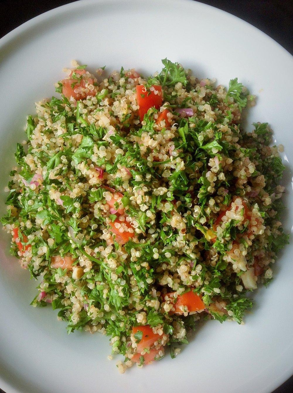 Quinoa Tabouleh - Healthy, Gluten-Free, Oil-Free, Whole Grain, Vegetarian Protein, Plant-Based, Vegan